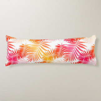 Women's Decor Palm Tree Leaf In Sunset Colors Body Pillow