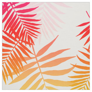 Women's Decor Palm Tree Leaf In Sunset Colors Fabric