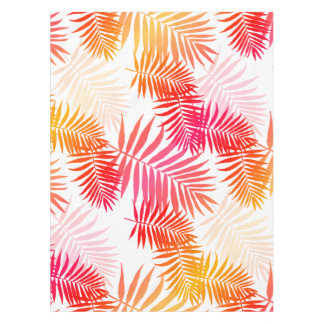 Women's Decor Palm Tree Leaf In Sunset Colors Tablecloth