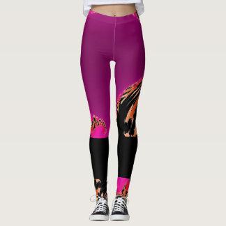 Womens Designer Leggings Black Pink Orange Purple