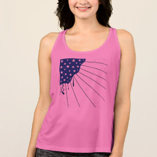 Women's designers Pink Tshirt with USA art flag