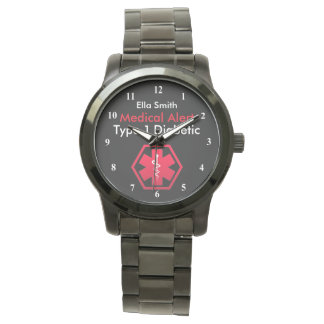 Womens Diabetes  Alert Type 1 or 2 Oversized Watch