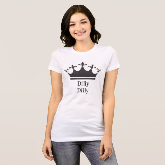 Women's Dilly Dilly Tiara Canvas Jersey T-Shirt