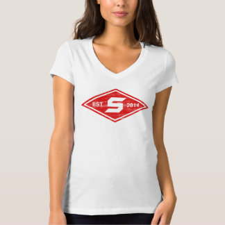 Women's Distressed Diamond V-Neck T-Shirt