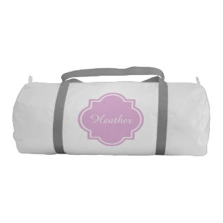 Womens duffle bag personalized with custom name
