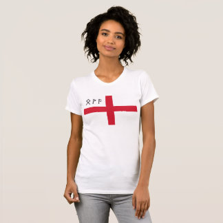 Women's England T-Shirt - Flag with Runes
