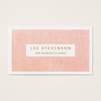 Women's Fashion Boutique Light Pink Feminine Business Card