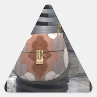 Women's fashion purse wallet leather accessory fun triangle sticker