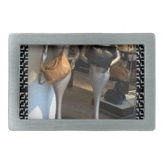 Women's Fashion Showroom Window Hand Bags shopping Belt Buckles
