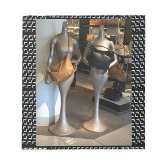 Women's Fashion Showroom Window Hand Bags shopping Notepad
