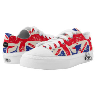 Womens Fashion Trainers British Flag Low-Top Sneakers