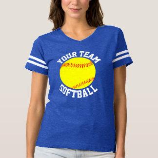 Women's Fastpitch Softball Football-Style Jersey T-shirt
