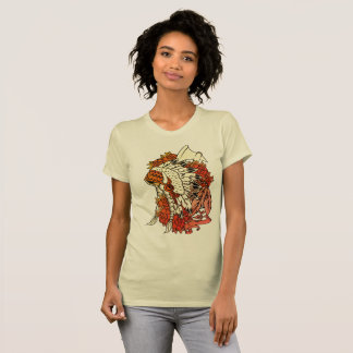 Womens fine Jersey t-shirt Indian Head dress