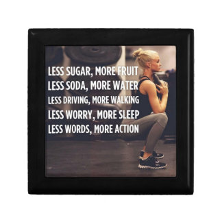 Women's Fitness Inspirational Words - More Action Gift Box