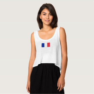 Womens Flag of France Tank Top