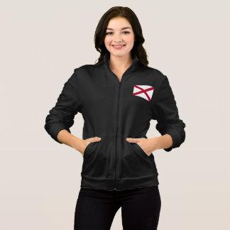 Women's  Fleece Zip Jogger flag of Alabama, USA