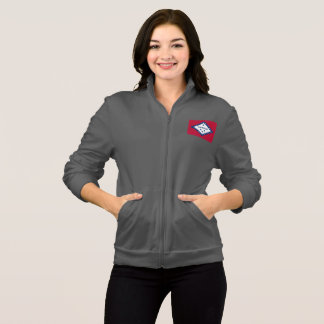 Women's  Fleece Zip Jogger flag of Arkansas, USA