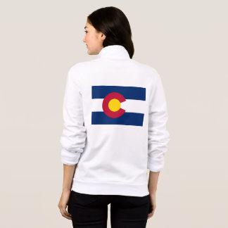 Women's  Fleece Zip Jogger flag of Colorado, USA