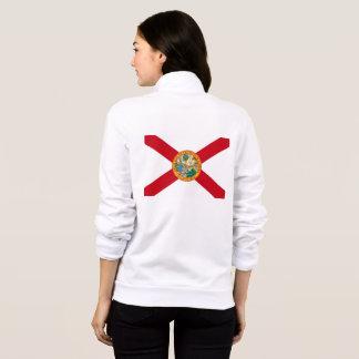 Women's  Fleece Zip Jogger flag of Delaware, USA