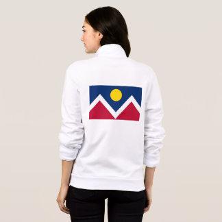 Women's  Fleece Zip Jogger flag of Denver, USA