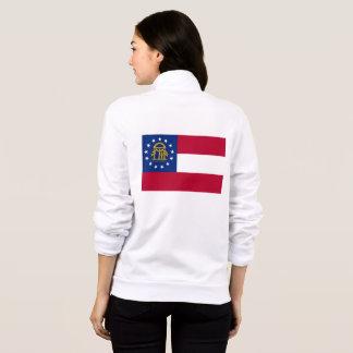 Women's  Fleece Zip Jogger flag of Georgia, USA