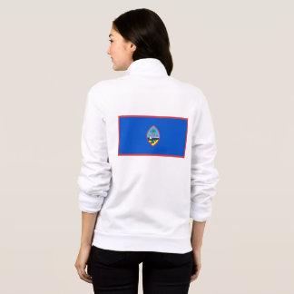 Women's  Fleece Zip Jogger flag of Guam, USA