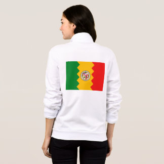 Women's  Fleece Zip Jogger flag of Los Angeles, US