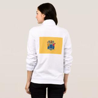 Women's  Fleece Zip Jogger flag of New Jersey, USA