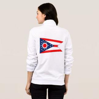 Women's  Fleece Zip Jogger flag of Ohio State