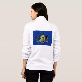 Women's  Fleece Zip Jogger flag of Pennsylvania