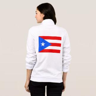 Women's  Fleece Zip Jogger flag of Puerto Rico