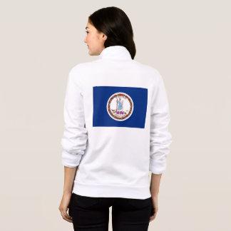 Women's  Fleece Zip Jogger flag of Virginia