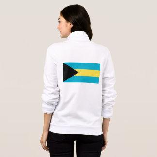 Women's  Fleece Zip Jogger with flag of Bahamas