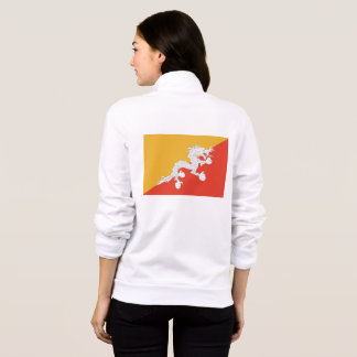 Women's  Fleece Zip Jogger with flag of Bhutan