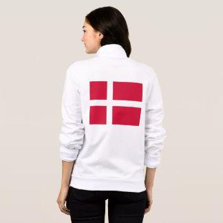 Women's  Fleece Zip Jogger with flag of Denmark