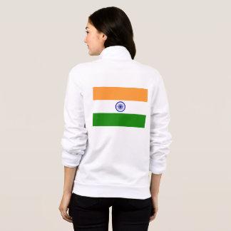 Women's  Fleece Zip Jogger with flag of India