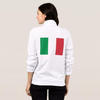 Women's  Fleece Zip Jogger with flag of Italy