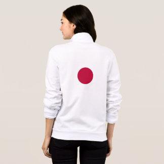 Women's  Fleece Zip Jogger with flag of Japan