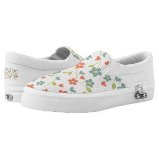 Womens Flower Slipons Slip-On Sneakers
