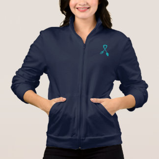 Women's Food Allergy Awareness Zip Sweatshirt
