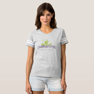 Women's Football Cannatopia Smoke Logo Tee