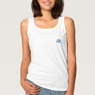 Womens Foothills Turns Fifty Logo Tank Top- all