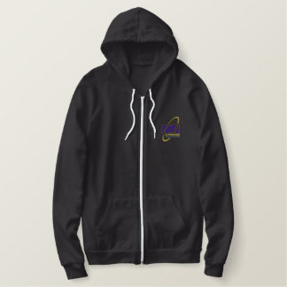 Women's full zip fleece embroidered hoodie