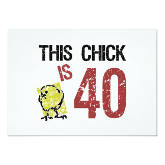 "Women's Funny 40th Birthday 5"" X 7"" Invitation Card"