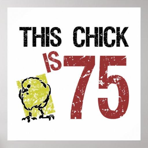 Women's Funny 75th Birthday Poster