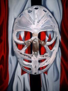 adb237a206f Women s goalie mask t-shirt long sleeved