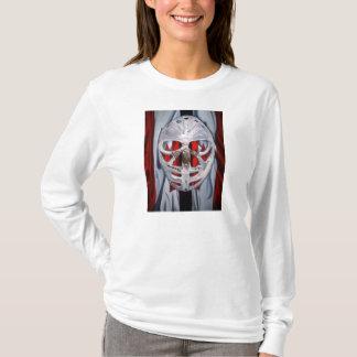 Women's goalie mask t-shirt long sleeved