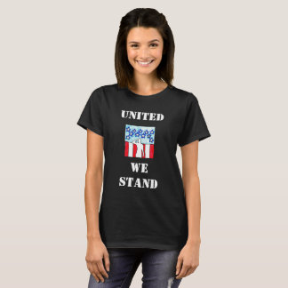 Women's Graphic Fashion UNITED WE STAND Patriotic T-Shirt