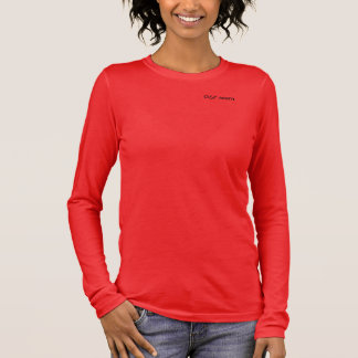 "Women's ""GSP Mom"" Relaxed Fit 3/4 Sleeve V-Neck Long Sleeve T-Shirt"