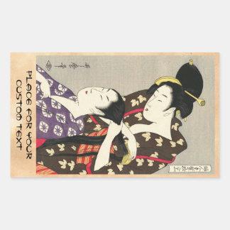 Womens hairdressing Utamaro Yuyudo ukiyo-e art